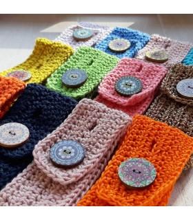 Cache bracelet artisanal en coton bio