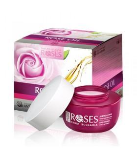 Crème de nuit intensive anti-rides à l'huile de rose et à l'huile d'argan ROSES