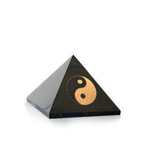 Pyramide en Shungite polie Feng shui Yin et Yang