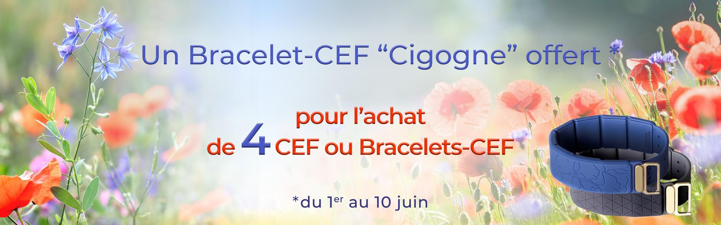 Un Bracelet-CEF offert pour l'achat de 4 CEF ou Bracelets-CEF