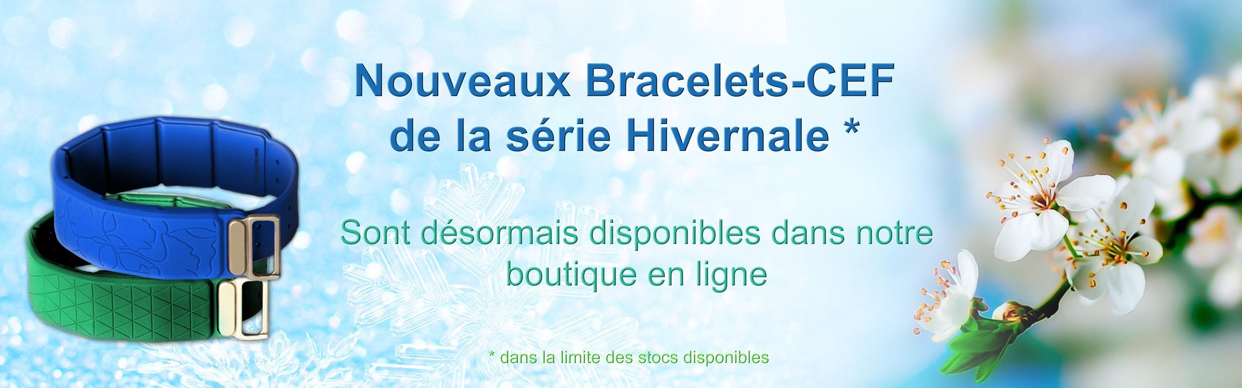 Nouveaux Bracelets-CEF série Hivernale